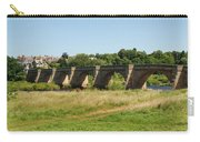 bridge over river Tyne at Corbridge in summer Carry-all Pouch