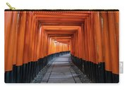 Bright Orange Torii Gates In Kyoto, Japan Carry-all Pouch