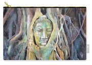 Buddha Head In Tree Roots Carry-all Pouch