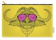 Buffalo In Pink Glasses Carry-all Pouch