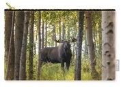 Bull Moose In Fall Forest Carry-all Pouch