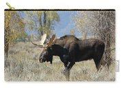 Bull Moose In Sage Carry-all Pouch by Jean Clark