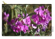 Bunch Of Pink Sweet Peas In The Sun Carry-all Pouch