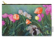 Bunnies In The Blooms Carry-all Pouch