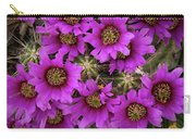 Burst Of Fuchsia Cactus Flowers Carry-all Pouch