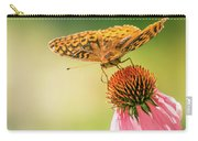 Butterfly And Flower Carry-all Pouch by Allin Sorenson