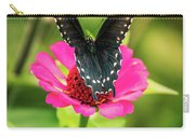 Butterfly And Flowers Carry-all Pouch by Allin Sorenson