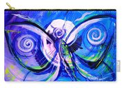 Butterfly Blue Violet Carry-all Pouch