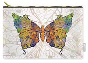 Butterfly Zen Meditation Abstract Digital Mixed Media Artwork By Omaste Witkowski Carry-all Pouch by Omaste Witkowski