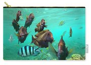 Butterflyfish And Sergeant Major Carry-all Pouch