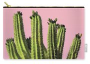 Cactus - Minimal Cactus Poster - Desert Wall Art - Tropical, Botanical - Pink, Green - Modern Prints Carry-all Pouch