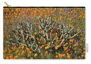 Cactus Poppies And Bluebells Carry-all Pouch