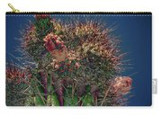 Cactus With Pink Flower Carry-all Pouch