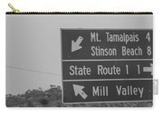 California State Sign Carry-all Pouch