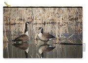 Canada Geese On The Marsh Carry-all Pouch by Jemmy Archer