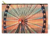Capital Wheel Shining At Sunset  Carry-all Pouch