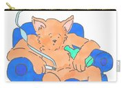 Cat Has Just Lost One Life Has Eight Lives Left Cartoon Carry-all Pouch