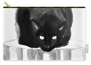 Cat On Wood Carry-all Pouch