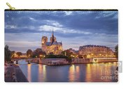 Cathedral Notre Dame And River Seine Carry-all Pouch by Brian Jannsen