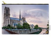 Cathedral Of Notre Dame From The Bridge - Paris France Carry-all Pouch