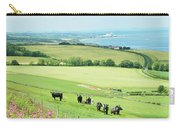 cattle in field and east coast Berwickshire Carry-all Pouch