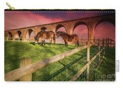 Cefn Viaduct Horses At Sunset Carry-all Pouch
