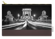 Chain Bridge At Night In Budapest Carry-all Pouch