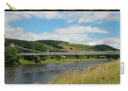 chainbridge over river Tweed at Melrose Carry-all Pouch