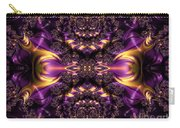 Chained Dragons Condemned  To Battle In Hells Fiery Furnace Fractal Abstract Carry-all Pouch by Rose Santuci-Sofranko