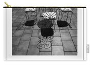 Chairs And Shadows Bw Poster Carry-all Pouch