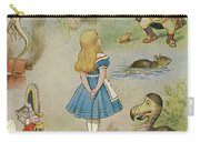 Characters From Alice In Wonderland  Carry-all Pouch