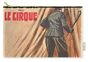 Charlie Chaplin Dans Le Cirque - Vintage Advertising Poster Carry-all Pouch