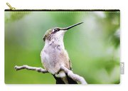 Charming Hummingbird Square Carry-all Pouch