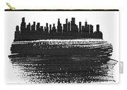Chicago Skyline Brush Stroke Black Carry-all Pouch