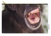 Chimp With Mouth Open Carry-all Pouch