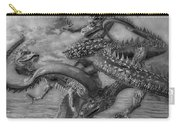 Chinese Dragons In Black And White Carry-all Pouch