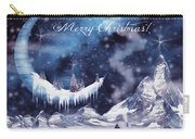 Christmas Card With Frozen Moon Carry-all Pouch