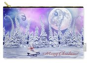 Christmas Card With Ice Skates Carry-all Pouch