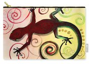 Christmas Gecko With Gold Poop Carry-all Pouch