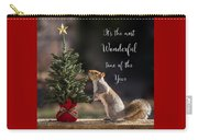 Christmas Squirrel Most Wonderful Time Of The Year Square Carry-all Pouch