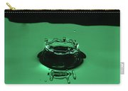 Circle Water Dance Green Carry-all Pouch