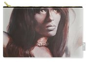 Claudia Lennear.brown Sugar.lady Grinning Soul Carry-all Pouch