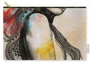 Cleansing Undertones - Zentangle Nude Girl Drawing Carry-all Pouch