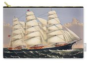 Clipper Ship Three Brothers, The Largest Sailing Ship In The World Published By Currier And Ives Carry-all Pouch