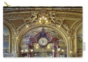 Clock At Le Train Bleu Carry-all Pouch