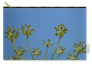 Close Up Of Fennel Flowers. On Sky Background Carry-all Pouch