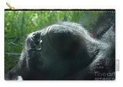 Close-up Of Frowning Adult Mountain Gorilla Carry-all Pouch