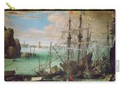 Coastal Landscape With Harbor  Carry-all Pouch