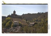 Cochem Main Street And Castle In Springtime In Germany Carry-all Pouch