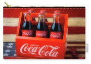 Coke And American Flag Carry-all Pouch